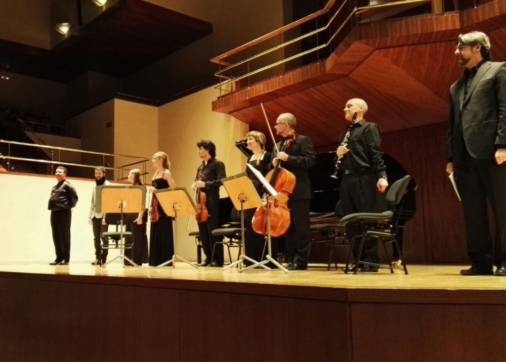 Solists of OCNE (Spanish National Orchestra and Chorus) premier the Octet Seneca in the National Auditorium of Madrid.